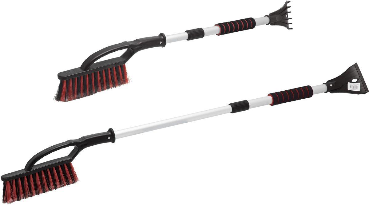 Щетка сметка для снега Главдор GL-610, со скребком, цвет: красный, длина 86 смGL-610Телескопическая щетка сметкадля снега Главдор GL-610, на алюминиевой основе, снабжена трехрядной распущенной щетиной и скребком для льда, с разрыхлителем. Мягкая, удобная ручка изготовлена из пенополиэтилена.Длина: 86 см.