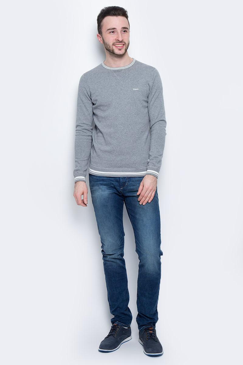 Джемпер мужской Tom Tailor Denim, цвет: серый. 3022584.00.12_2143. Размер L (50) платье tom tailor denim 5019774 00 71 6593