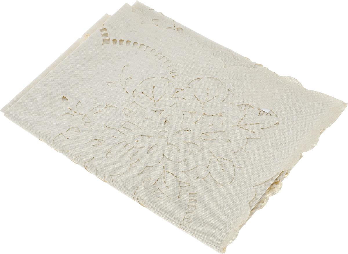 Скатерть Schaefer, квадратная, цвет: бежевый, 85 х 85 см. 07800-100 скатерти schaefer скатерть 85 85см 80
