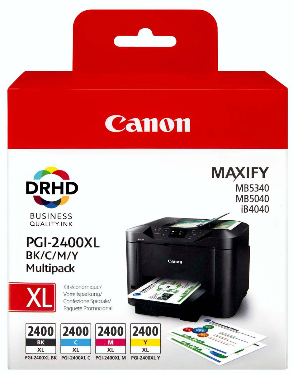 Canon PGI-2400XL EMB MULTI картридж для Maxify iB4040/МВ5040 и МВ5340 картридж canon pgi 1400y xl yellow для maxify мв2040 мв2340 9204b001