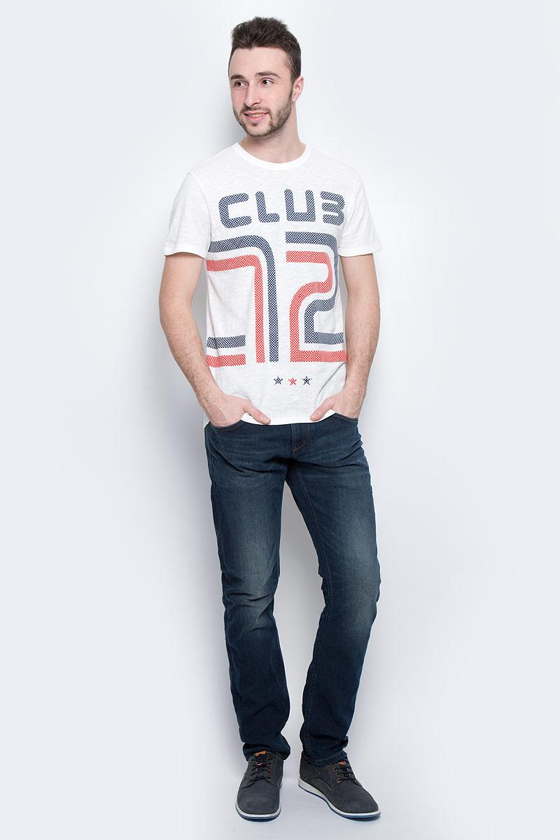 Футболка мужская Tom Tailor Denim, цвет: белый. 1037252.02.12_2132. Размер M (48) футболка tom tailor denim tom tailor denim to793ewzfb71