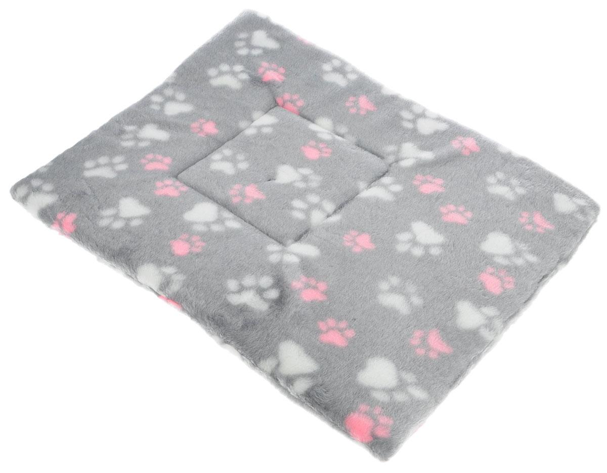 """Лежак для животных Elite Valley """"Матрасик"""", цвет: светло-серый, розовый, белый, 65 х 50 см. Л-8/6"""