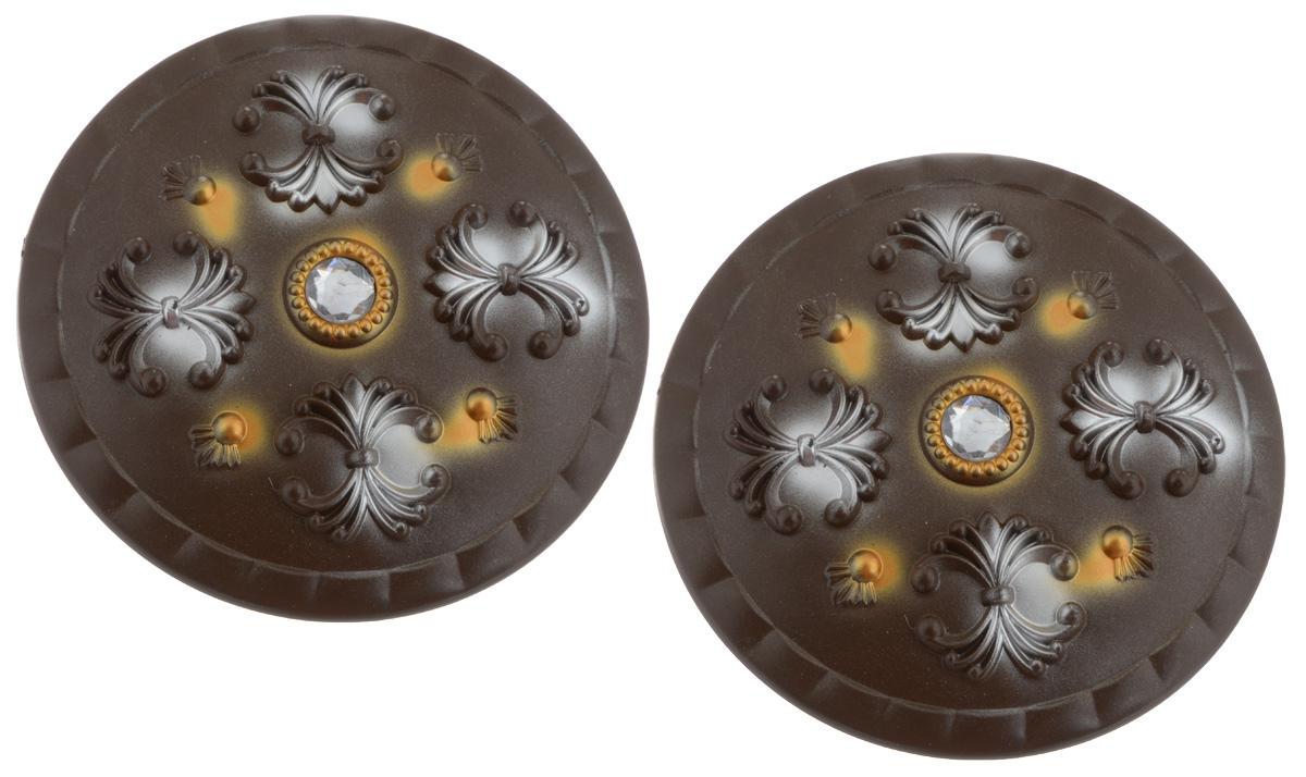Клипса для штор Goodliving, цвет: темно-коричневый, диаметр 13 см, 2 шт7704000_коричневыйКлипсы для штор Goodliving выполнены из пластика в виде заколки. С помощью таких клипс можно зафиксировать портьеры, придать им требуемое положение, сделать складки симметричными или приблизить портьеры, скрепить их. Клипсы для штор являются универсальным изделием, которое превосходно подойдет как для штор в детской комнате, так и для штор в гостиной. Следует отметить, что клипсы для штор выполняют не только практическую функцию, но также являются одной из основных деталей декора этого изделия, которая придает шторам восхитительный, стильный внешний вид. В комплекте - 2 клипсы.Диаметр клипсы: 13 см.