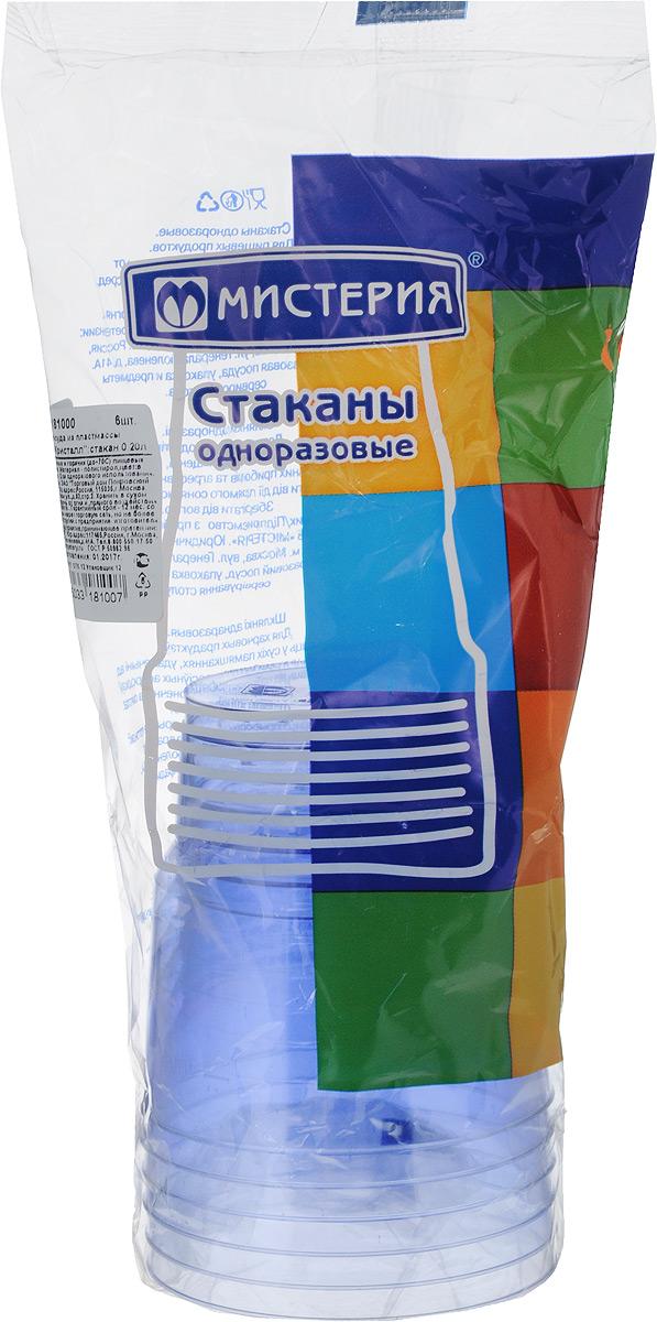Набор одноразовых стаканов Мистерия Кристалл, цвет: синий, 200 мл, 6 шт181040_синийНабор Мистерия Кристалл состоит из 6 стаканов, выполненных из полистирола и предназначенных для одноразового использования.Одноразовые стаканы будут незаменимы при поездках на природу, пикниках и других мероприятиях. Они не займут много места, легки и самое главное - после использования их не надо мыть.Диаметр стакана (по верхнему краю): 7,5 см.Высота стакана: 8 см.Объем: 200 мл.