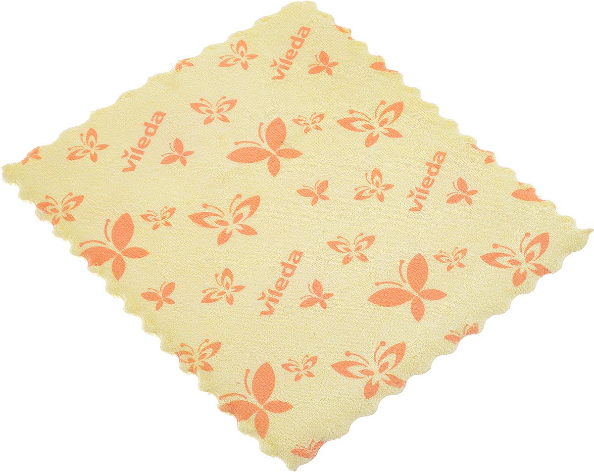 Салфетка универсальная Vileda, цвет: желтый, 17 х 20 см салфетка для уборки донна роза универсальная цвет розовый