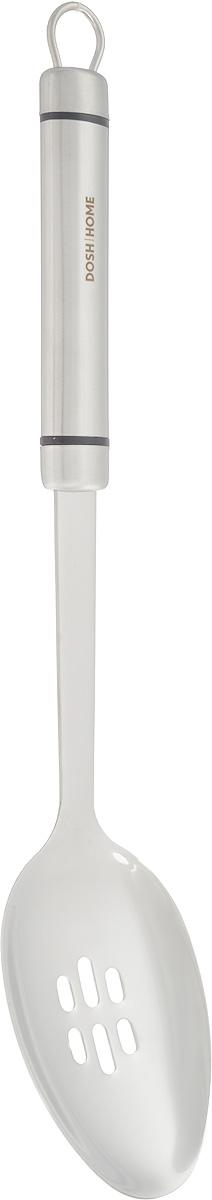 Ложка кулинарная Dosh Home Orion, с отверстиями, длина 35 см100105Кулинарная ложка Dosh Home Orion изготовлена из высококачественной нержавеющей стали.Ручка оснащена петелькой для подвешивания.Ложка с отверстиями Dosh Home Orion станет вашим незаменимым помощником на кухне, а такжеэто практичный и необходимый подарок любой хозяйке! Можно мыть в посудомоечной машине. Размер рабочей поверхности: 10,5 х 7 см. Общая длина ложки: 35 см.