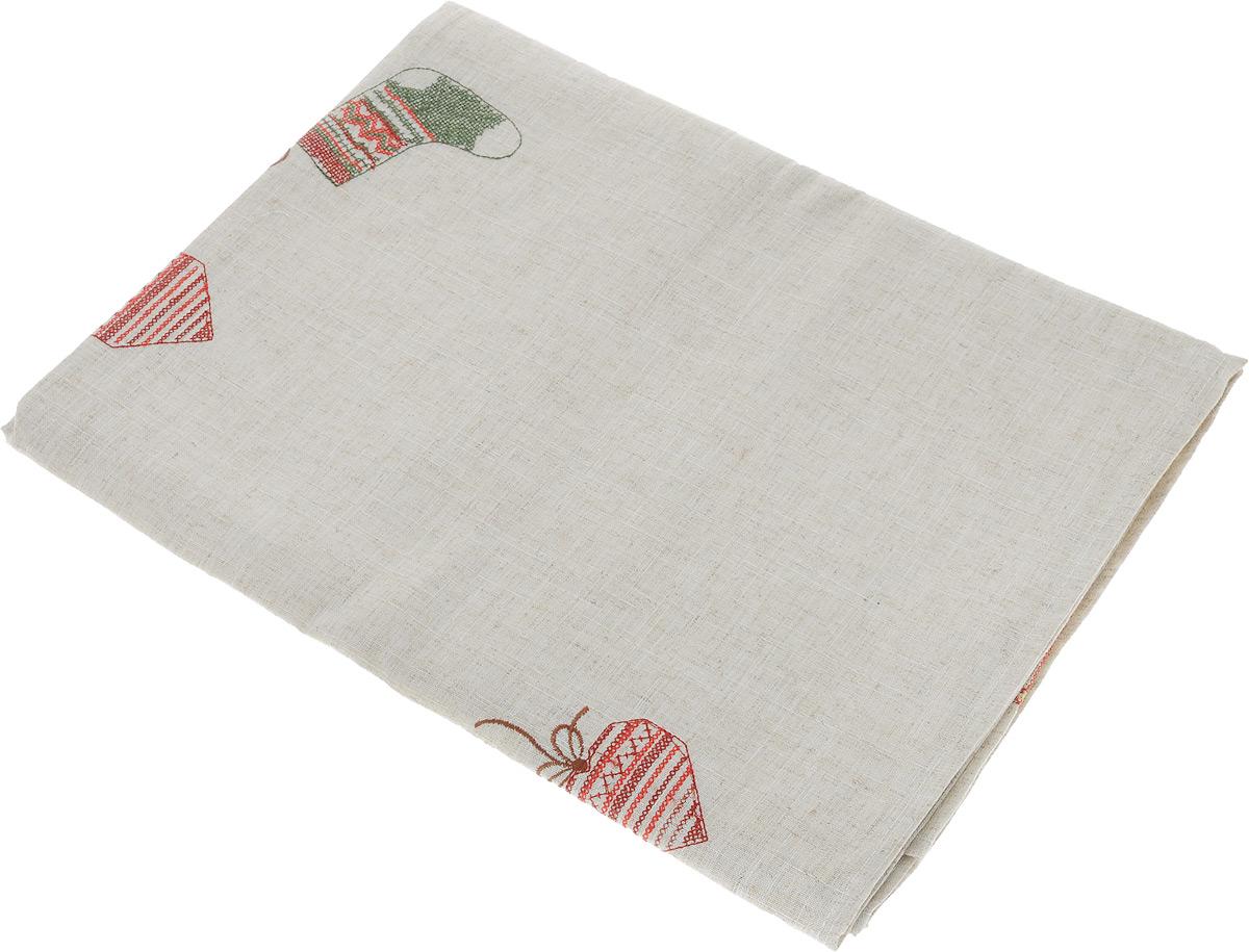 Скатерть Schaefer, прямоугольная, цвет: льняной, 130 х 170 см скатерти schaefer скатерть 130 225см 100