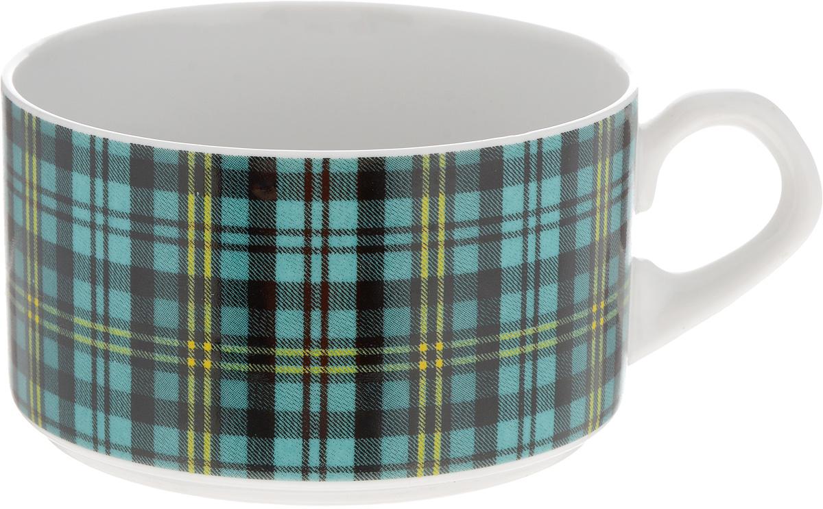 Чашка чайная Фарфор Вербилок Европейка. Шотландка, цвет: бирюзовый, черный, белый, 230 мл2074210_бирюзовая клеткаЧайная чашка Фарфор Вербилок Европейка. Шотландка способна скрасить любое чаепитие. Изделие выполнено из высококачественного фарфора. Посуда из такого материала позволяет сохранить истинный вкус напитка, а также помогает ему дольше оставаться теплым.Диаметр по верхнему краю: 8,5 см.Высота чашки: 5,5 см.