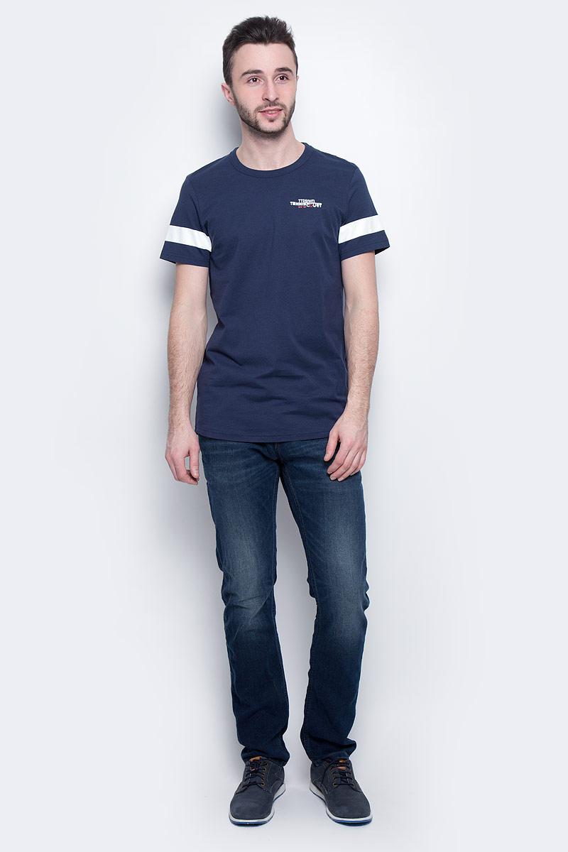Футболка мужская Tom Tailor Denim, цвет: темно-синий. 1037259.00.12_6740. Размер M (48) футболка tom tailor denim tom tailor denim to793ewpzf86