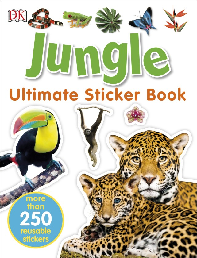 Jungle Ultimate Sticker Book walking through the jungle