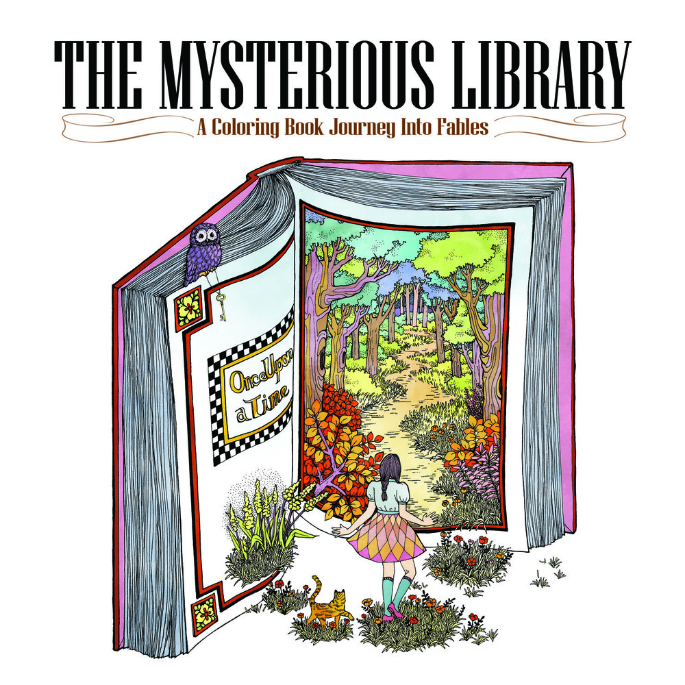 The Mysterious Library. A Coloring Book Journey Into Fables