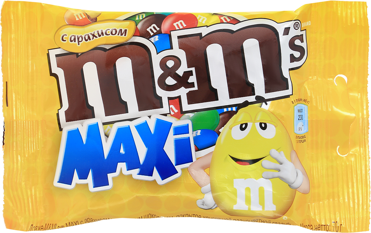 M&Ms драже с арахисом, 70 г79003060Драже M&Ms с арахисом - это больше веселых моментов для вас и ваших друзей! Разноцветные драже можно съесть самому или разделить с друзьями. В любом случае, вкус отличного молочного шоколада и арахиса подарит вам удовольствие и радость.Уважаемые клиенты! Обращаем ваше внимание на то, что упаковка может иметь несколько видов дизайна. Поставка осуществляется в зависимости от наличия на складе.