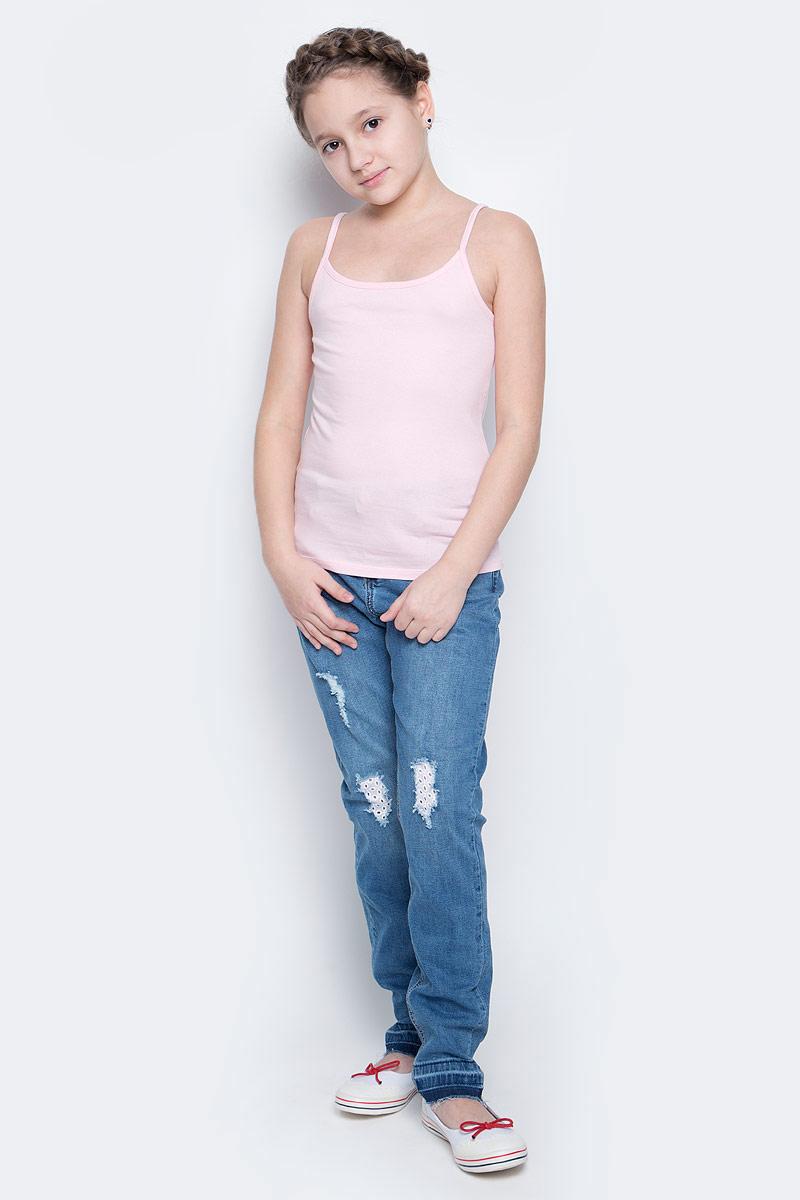 Майка для девочки Sela, цвет: светло-розовый. Tslub-2/017-7101. Размер 92/98, 2-4 годаTslub-2/017-7101Майка для девочки Sela выполнена из эластичного хлопка. Майка на узких нерегулируемых бретельках с круглым вырезом горловины имеет комфортные эластичные швы.