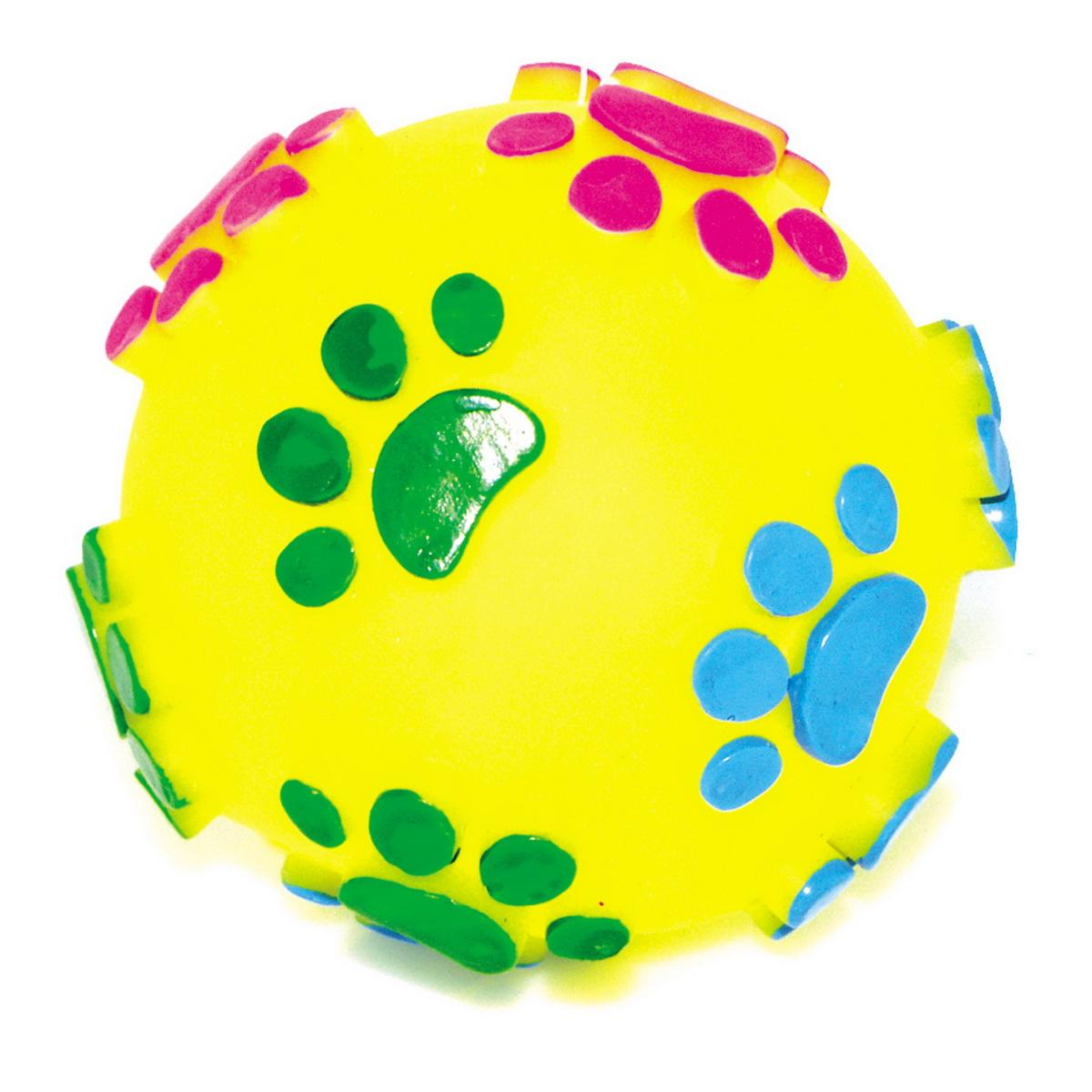 Игрушка для собак Dezzie Мяч. Большие лапы, диаметр 7,5 см игрушка для собак dezzie мяч резина розовый с рыжим