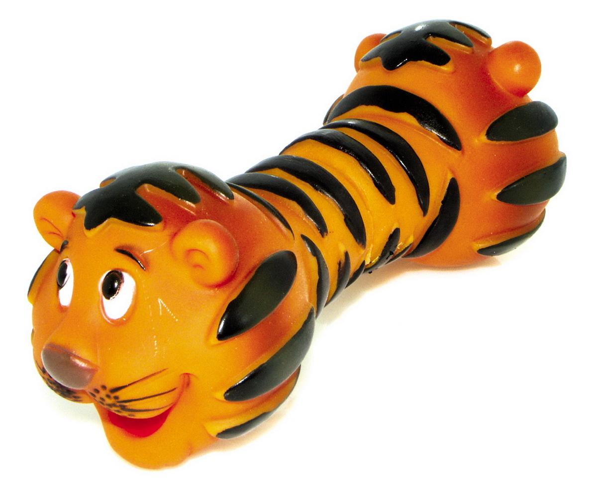 Игрушка для собак Dezzie Гантель. Тигр, 19,5 х 7,3 см плэйгро 182256 игрушка погрем тигр