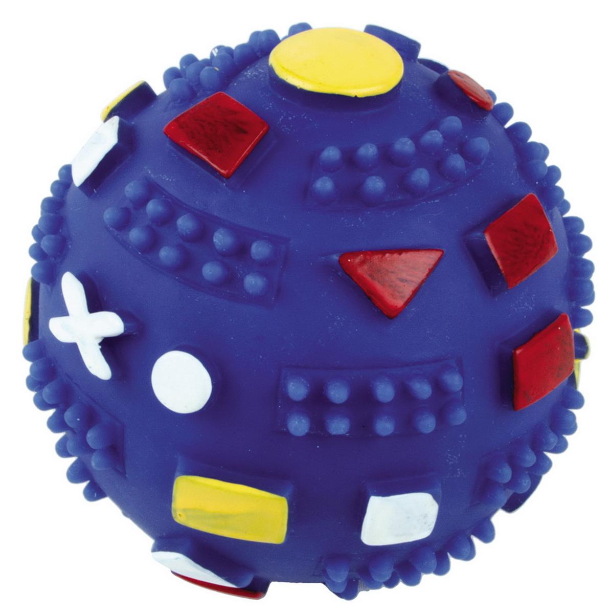 Игрушка для собак Dezzie Мяч. Фигуры, диаметр 7 см игрушка для собак dezzie кольцо с запахом мяса диаметр 8 5 см