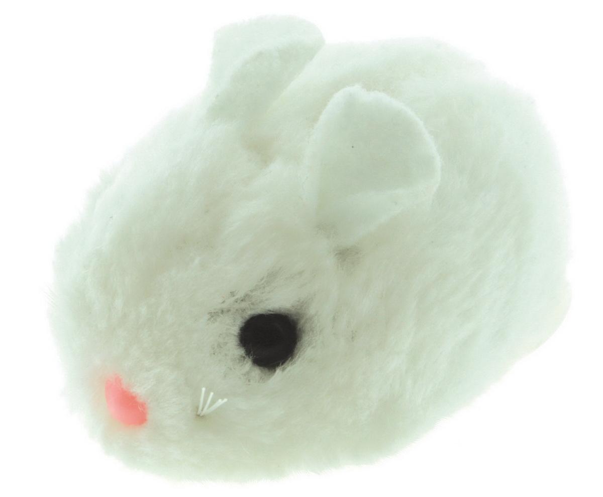 Игрушка для кошек Dezzie Мышь. Актив №1, цвет: белый, 8 см домик для кошек dezzie 5636054
