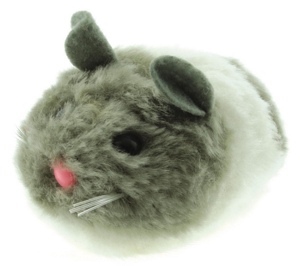 Игрушка для кошек Dezzie Мышь. Актив №3, цвет: серый, белый, 8 см домик для кошек dezzie 5636054