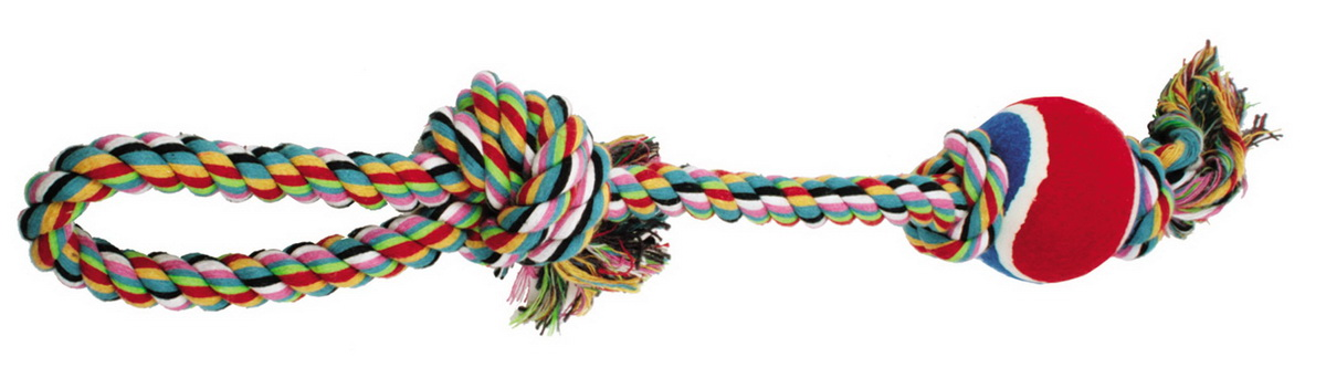 Игрушка для собак Dezzie Веревка №2, длина 50 см игрушка для животных каскад удочка с микки маусом 47 см