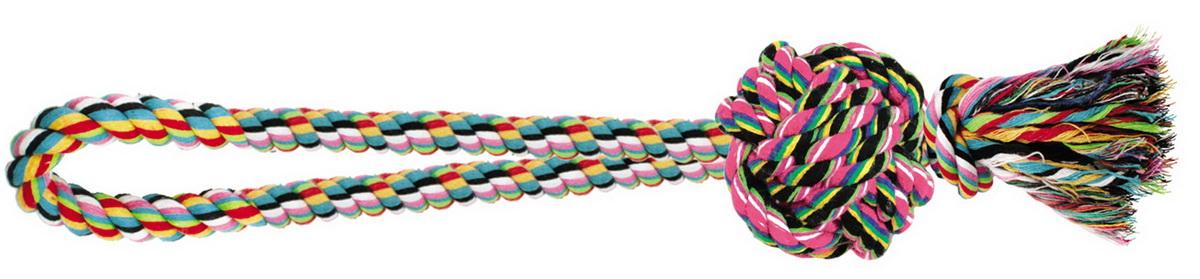 Игрушка для собак Dezzie Веревка №4, длина 36 см5608071Игрушка для собак Dezzie Веревка №4 изготовлена из натуральной хлопковой веревки, поэтому не только увлекательна, но и полезна для здоровья домашних животных. Во время игры питомец тренирует десны и очищает свои зубы от камня. Веревочные игрушки - это одни из самых популярных игрушек для собак. Длина игрушки: 36 см.