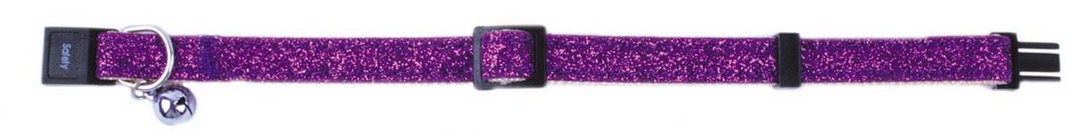 Ошейник для кошек Dezzie, цвет: фиолетовый, обхват шеи 21-33 см, ширина 1 см. 5609383 аксессуар защитная пленка samsung galaxy j5 prime g570 5 red line tpu full screen