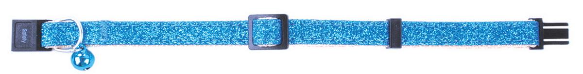 Ошейник для кошек Dezzie, цвет: голубой, обхват шеи 21-33 см, ширина 1 см. 56093845609384Ошейник для кошек Dezzie изготовлен из прочных материалов и легко регулируется, поэтому подойдет как котятам, так и взрослым кошкам. Оснащен пластиковой застежкой, которая обеспечивает безопасность вашего питомца - в случае резкого рывка ошейник не раскроется. Бубенчик позволит контролировать местонахождение кошки, а также будет оберегать уличных птиц от нежелательного контакта.