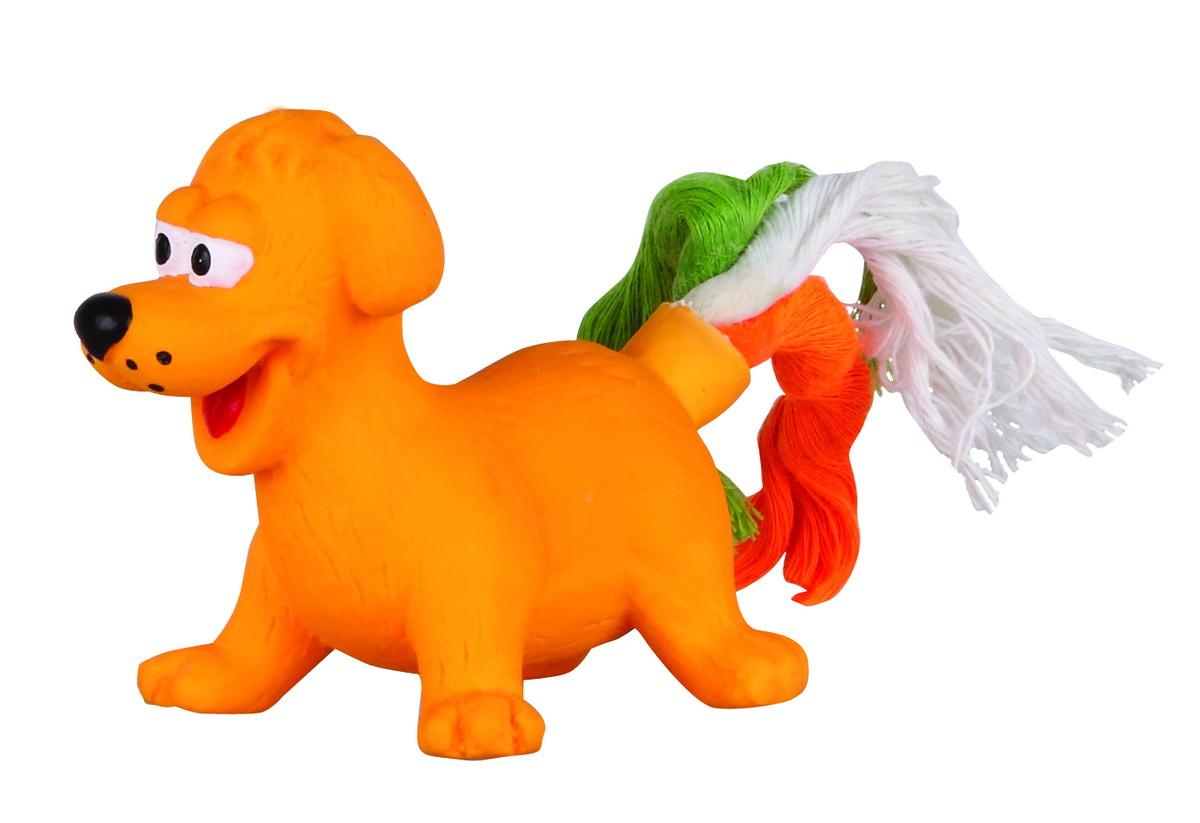 Игрушка для собак Dezzie Собака, 8 см5620105Игрушка для собак Dezzie Собака изготовлена из латекса в виде собачки с хвостом из текстильных веревок. Она безопасна для здоровья животного. Латекс не твердеет под действием желудочного сока, поэтому игрушку можно смело покупать даже самым маленьким щенкам.Очаровательная игрушка обеспечит досуг собаке и не позволит ей скучать.