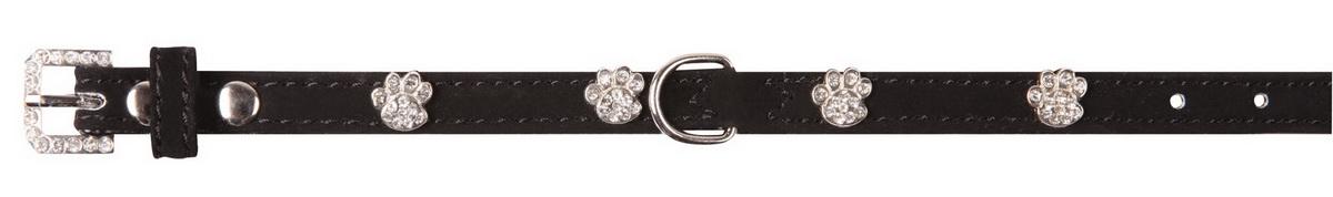 Ошейник для собак Dezzie, цвет: черный, обхват шеи 18-23 см, ширина 1 см. Размер XS. 5624010 ошейник для собак dezzie сальвадор