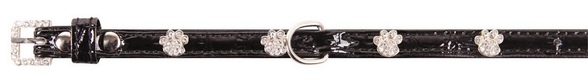 """Ошейник для собак """"Dezzie"""", цвет: черный, обхват шеи 18-23 см, ширина 1 см. Размер XS. 5624190"""