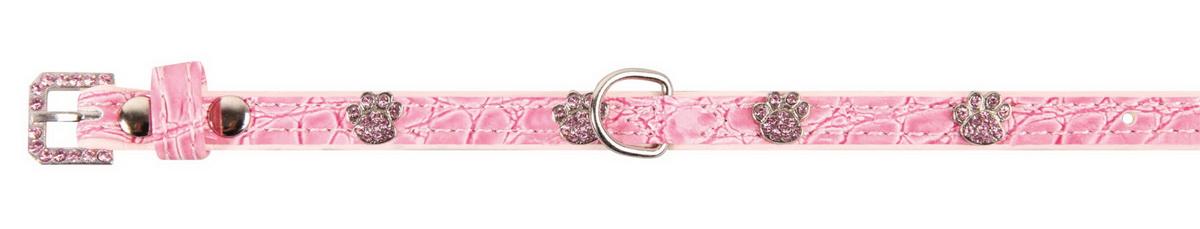 Ошейник для собак Dezzie, цвет: розовый, обхват шеи 18-23 см, ширина 1 см. Размер XS. 5624304 ошейник для собак dezzie цвет розовый обхват шеи 23 28 см ширина 1 см размер s 5624082