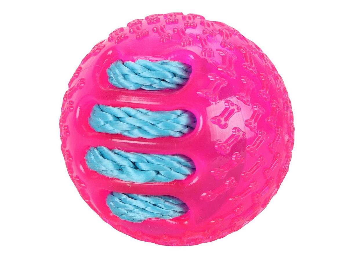 Игрушка для собак Dezzie Бейсбольный мяч, диаметр 7 см игрушка dezzie бейсбольный мяч 5638000