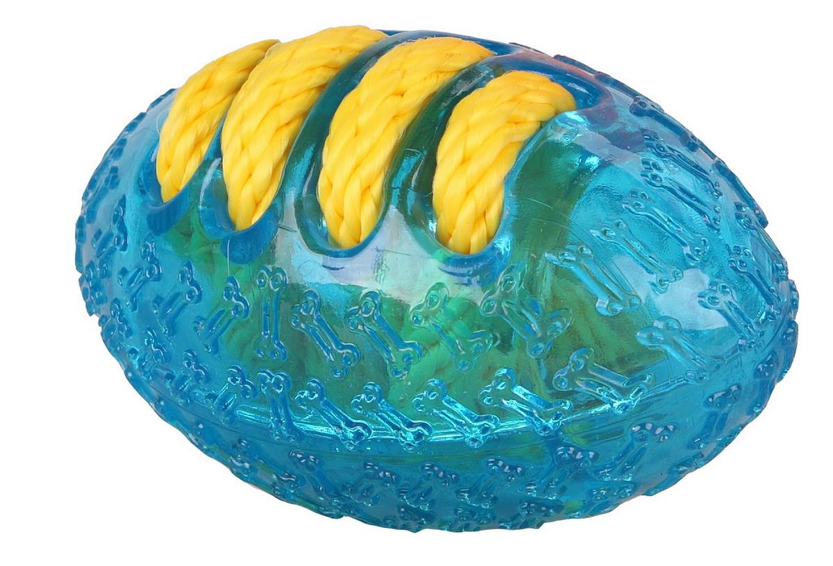Игрушка для собак Dezzie Мяч. Американский футбол, 14 см5638001Игрушка для собак Dezzie Мяч. Американский футбол изготовлена из резины в виде мяча американского футбола. Игрушки из резины созданы из безопасного и прочного материала, поэтому их спокойно можно использовать при длительных занятиях с любимцем. Особенно они придутся по душе обожающим водные забавы питомцам и их владельцам. Такие игрушки не тонут и станут замечательным развлечением при апортировочных играх на воде. Эластичность резины и специальные выступы на поверхности игрушек способствуют тренировке жевательных мышц, очищению зубов и массажу десен собаки.Игрушка для собак Dezzie Мяч. Американский футбол станет подарком активному питомцу, чьи хозяева заботятся о здоровье и правильном развитии собаки. Длина игрушки: 14 см.