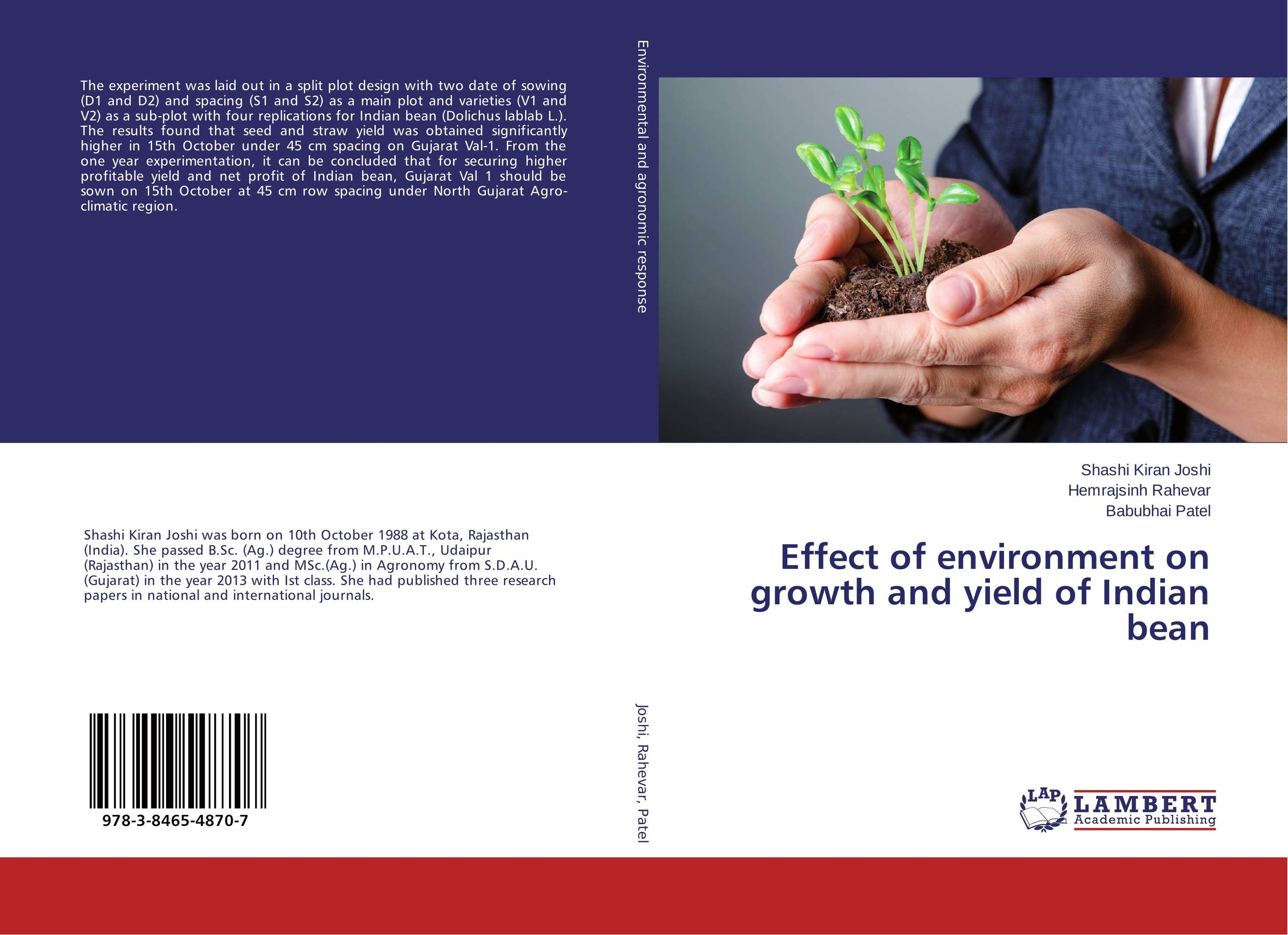 Effect of environment on growth and yield of Indian bean effect of beta carotene on growth and color of pterophyllum scalare