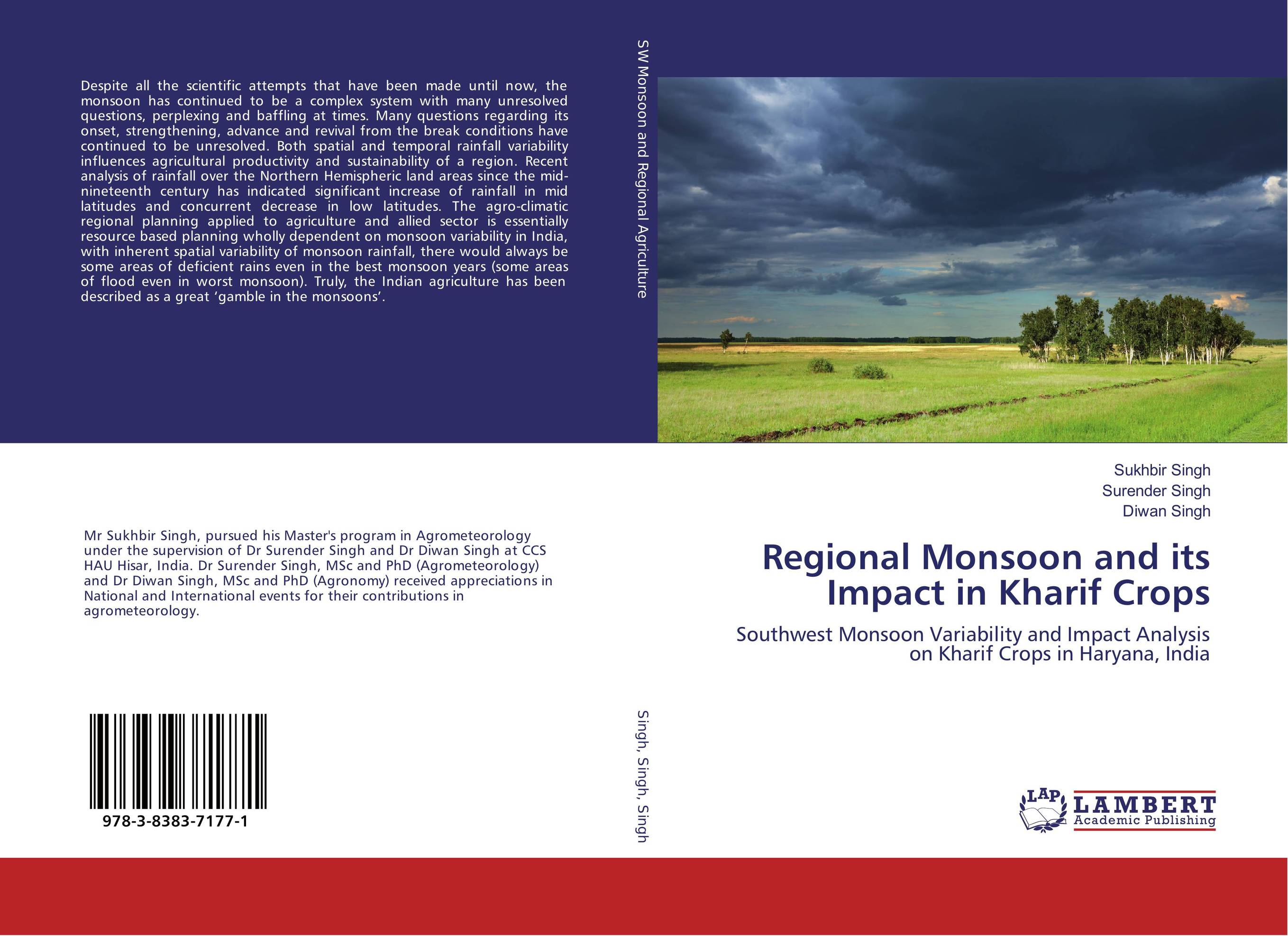 Regional Monsoon and its Impact in Kharif Crops latitudes