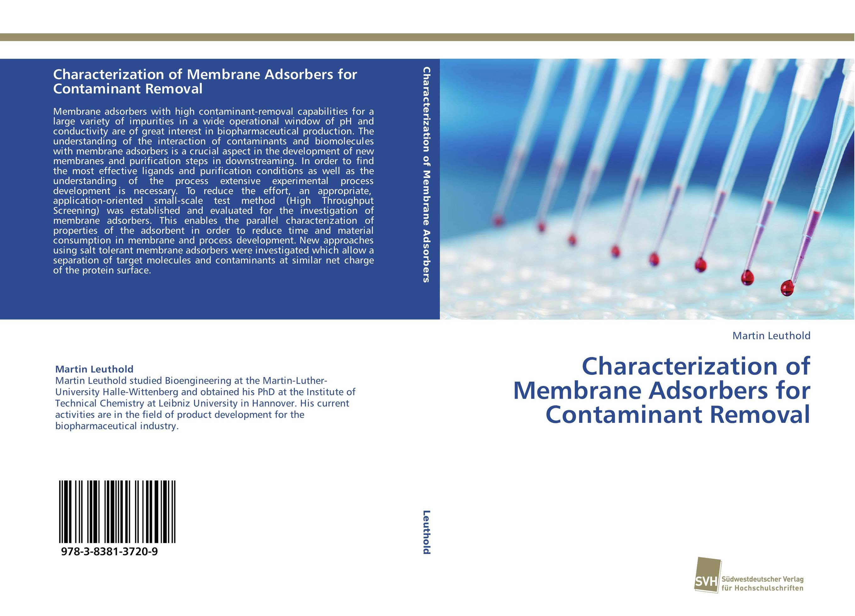 Characterization of Membrane Adsorbers for Contaminant Removal handbook of isolation and characterization of impurities in pharmaceuticals 5