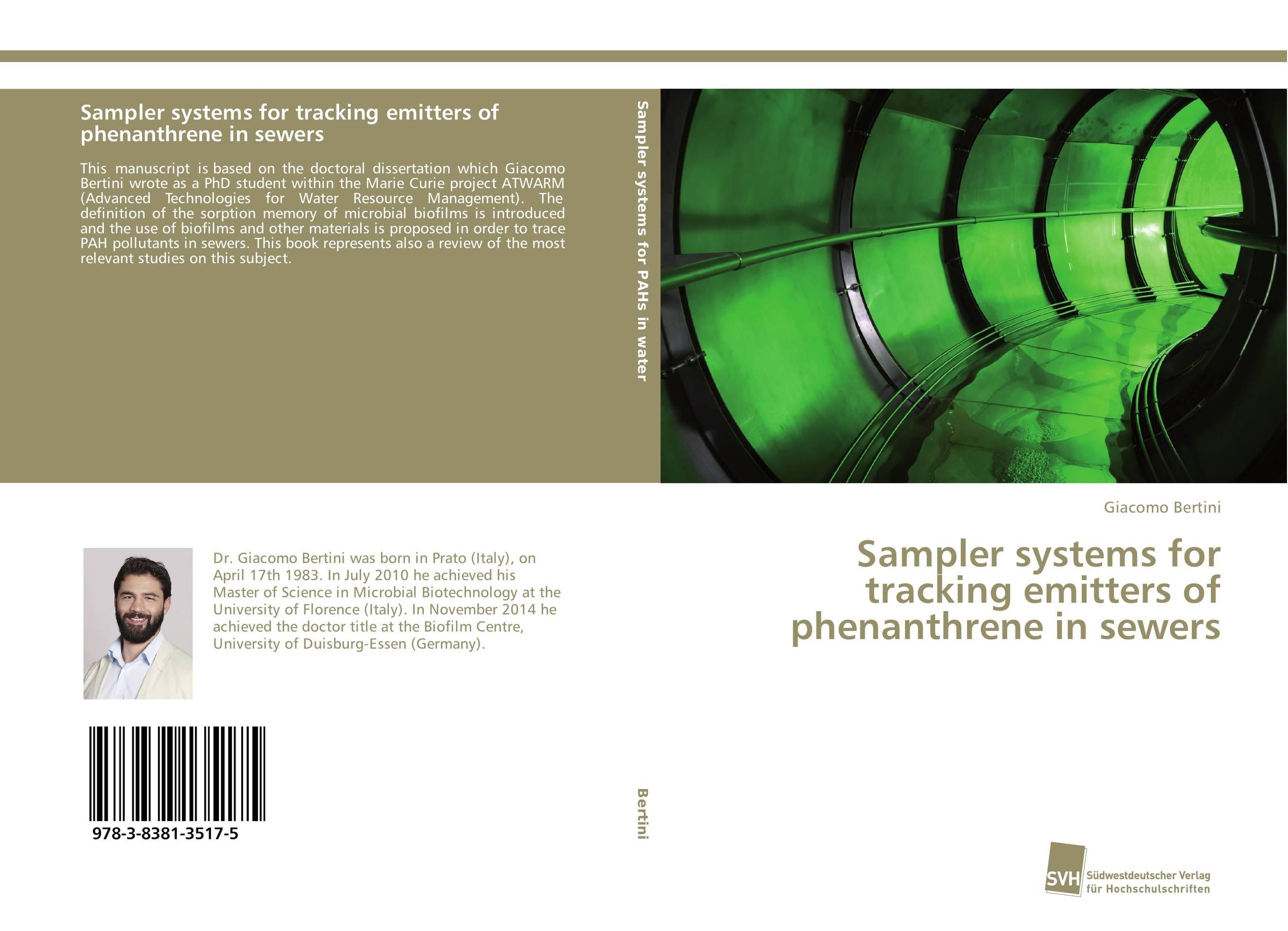 Sampler systems for tracking emitters of phenanthrene in sewers