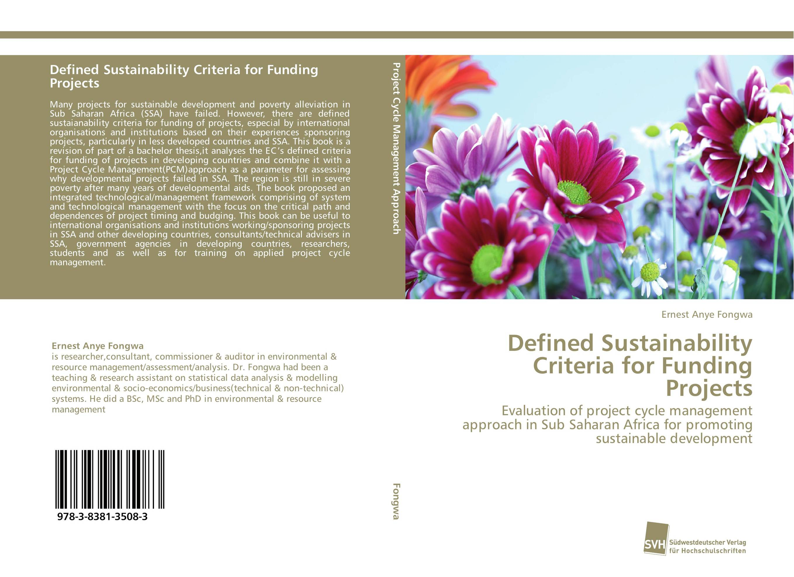 Defined Sustainability Criteria for Funding Projects a decision support tool for library book inventory management