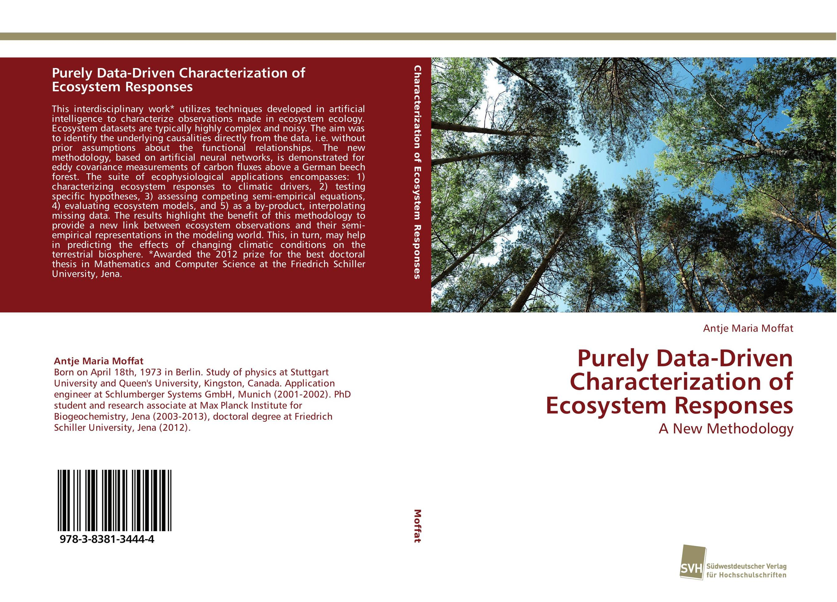 Purely Data-Driven Characterization of Ecosystem Responses ecosystem ecology