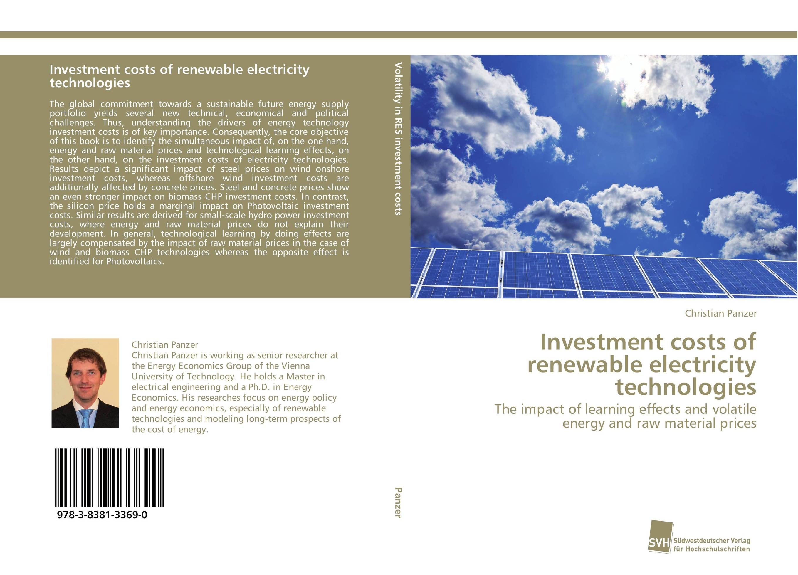 Investment costs of renewable electricity technologies investment costs of renewable electricity technologies