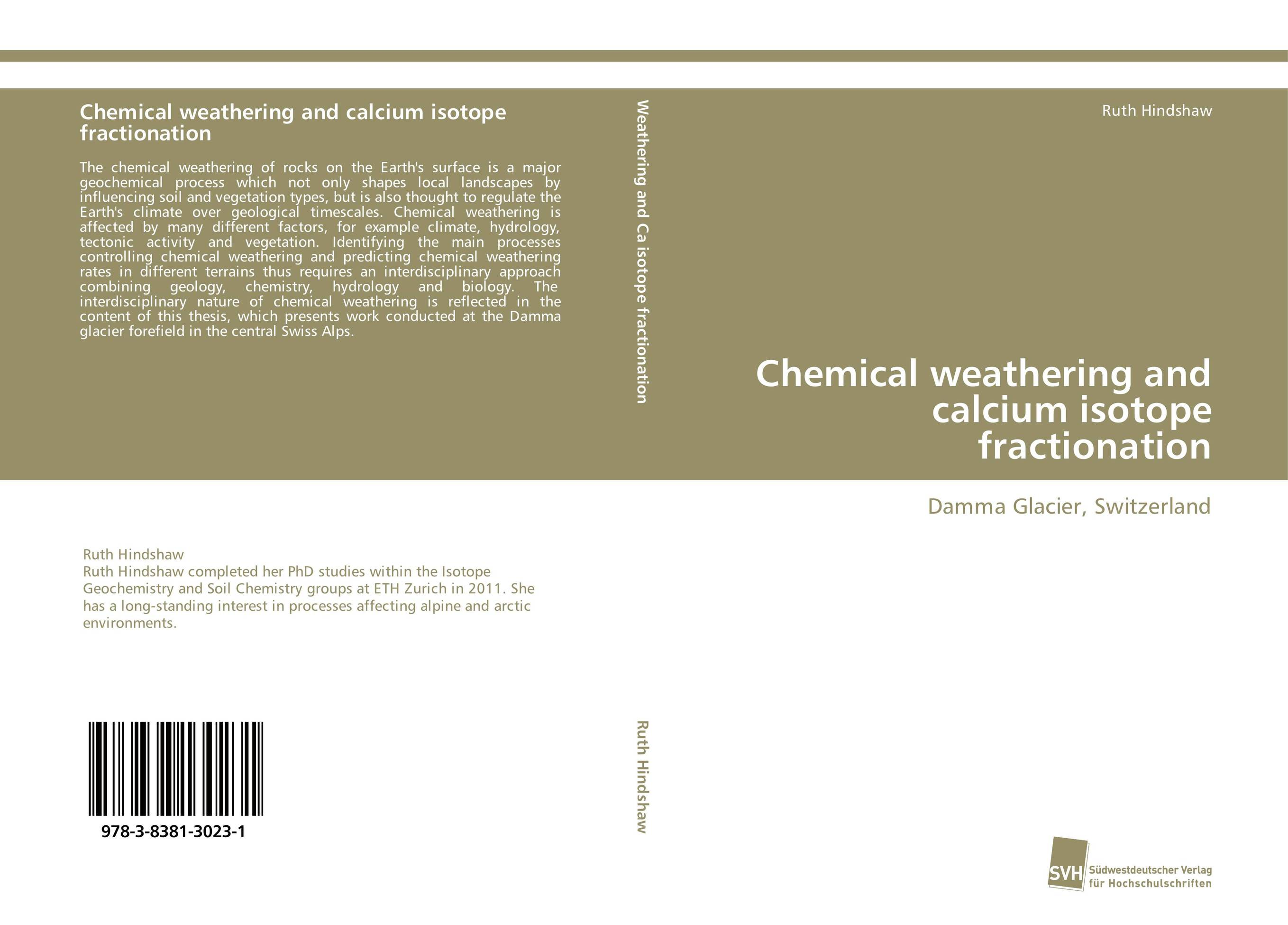 Chemical weathering and calcium isotope fractionation gurumallesh prabu and k kalapriya green chemical approach in the colouration of fabrics