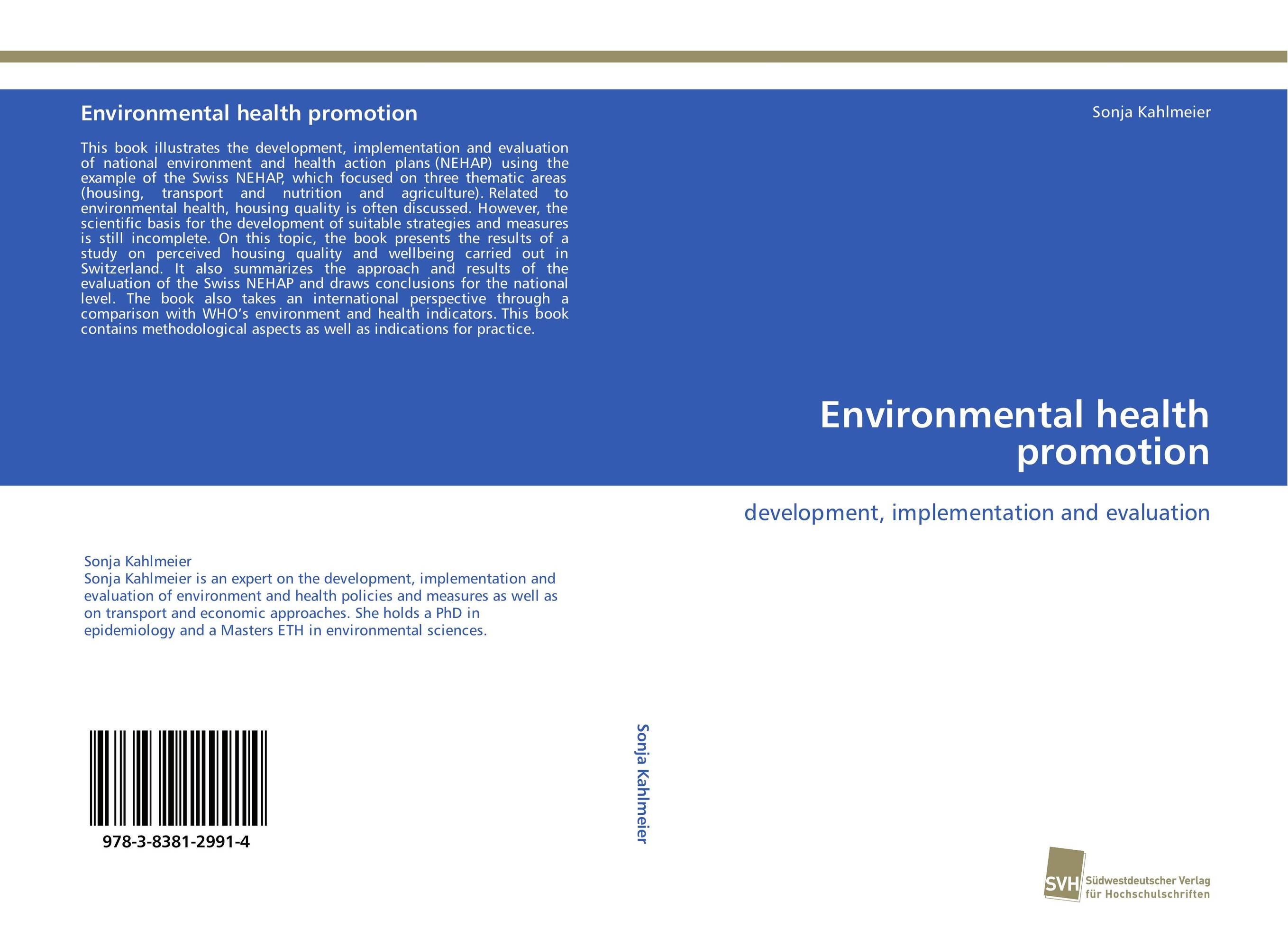 Environmental health promotion the role of evaluation as a mechanism for advancing principal practice