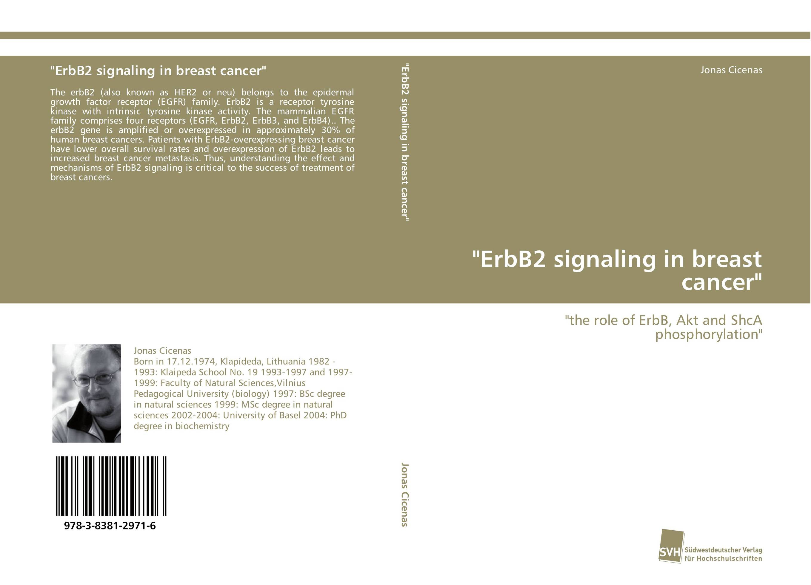 ErbB2 signaling in breast cancer 406 948 41 13 40