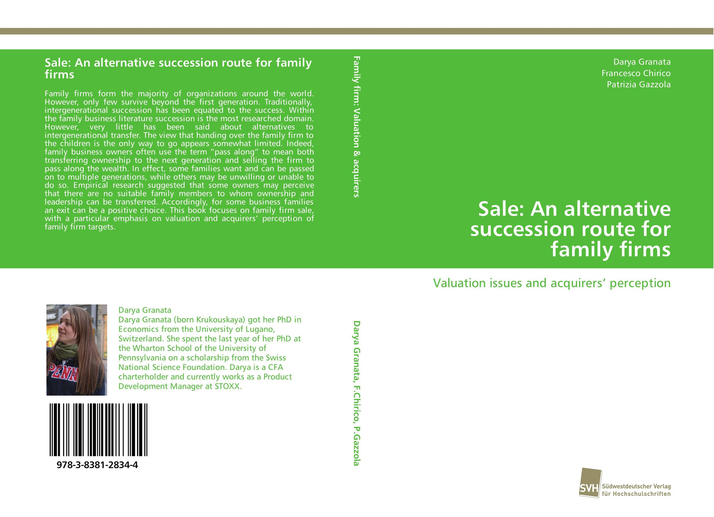 Sale: An alternative succession route for family firms david sr grau succession planning for financial advisors building an enduring business