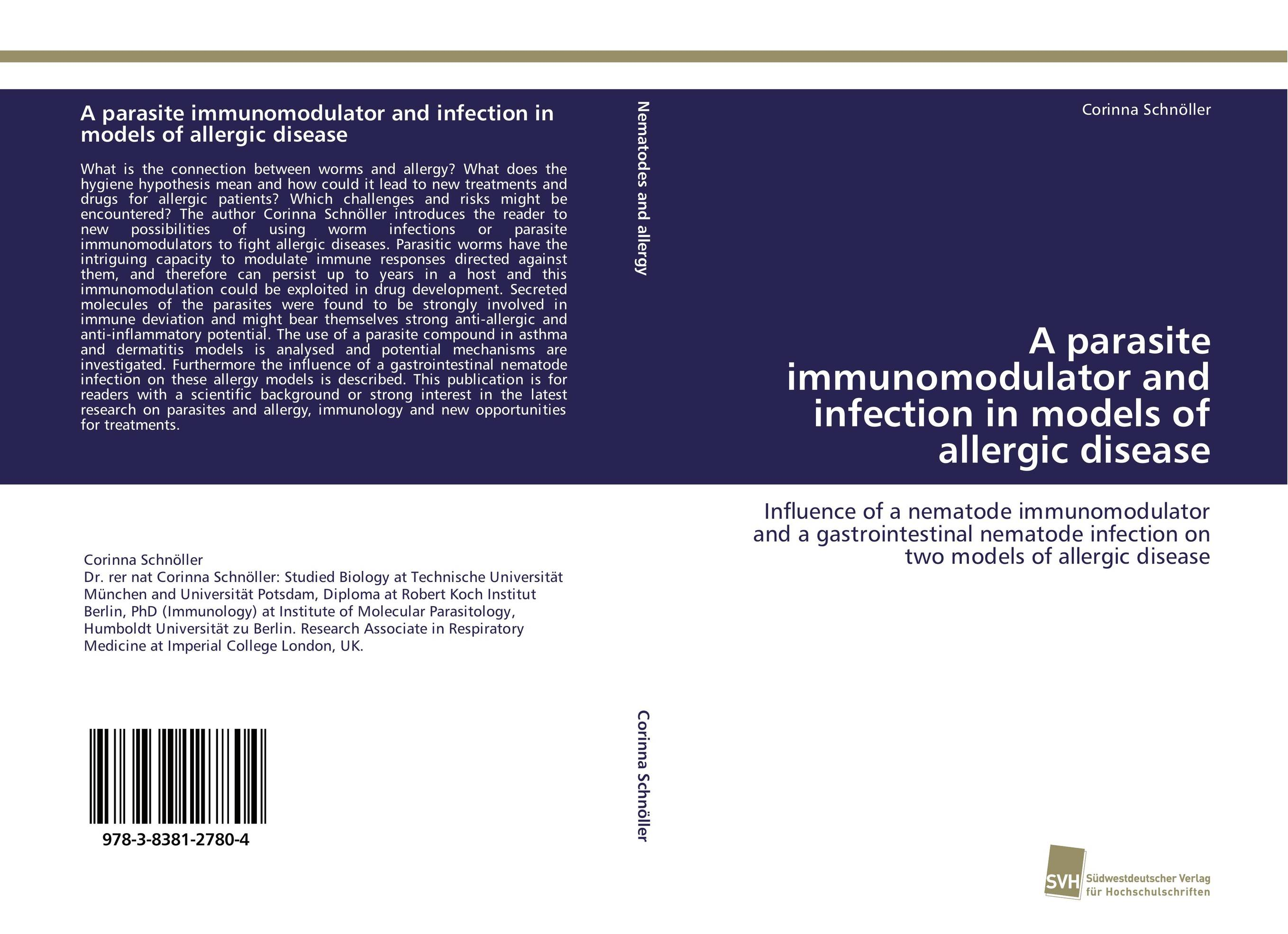 A parasite immunomodulator and infection in models of allergic disease hanson progress in allergy – host parasite relat ionsin gram–negative infections