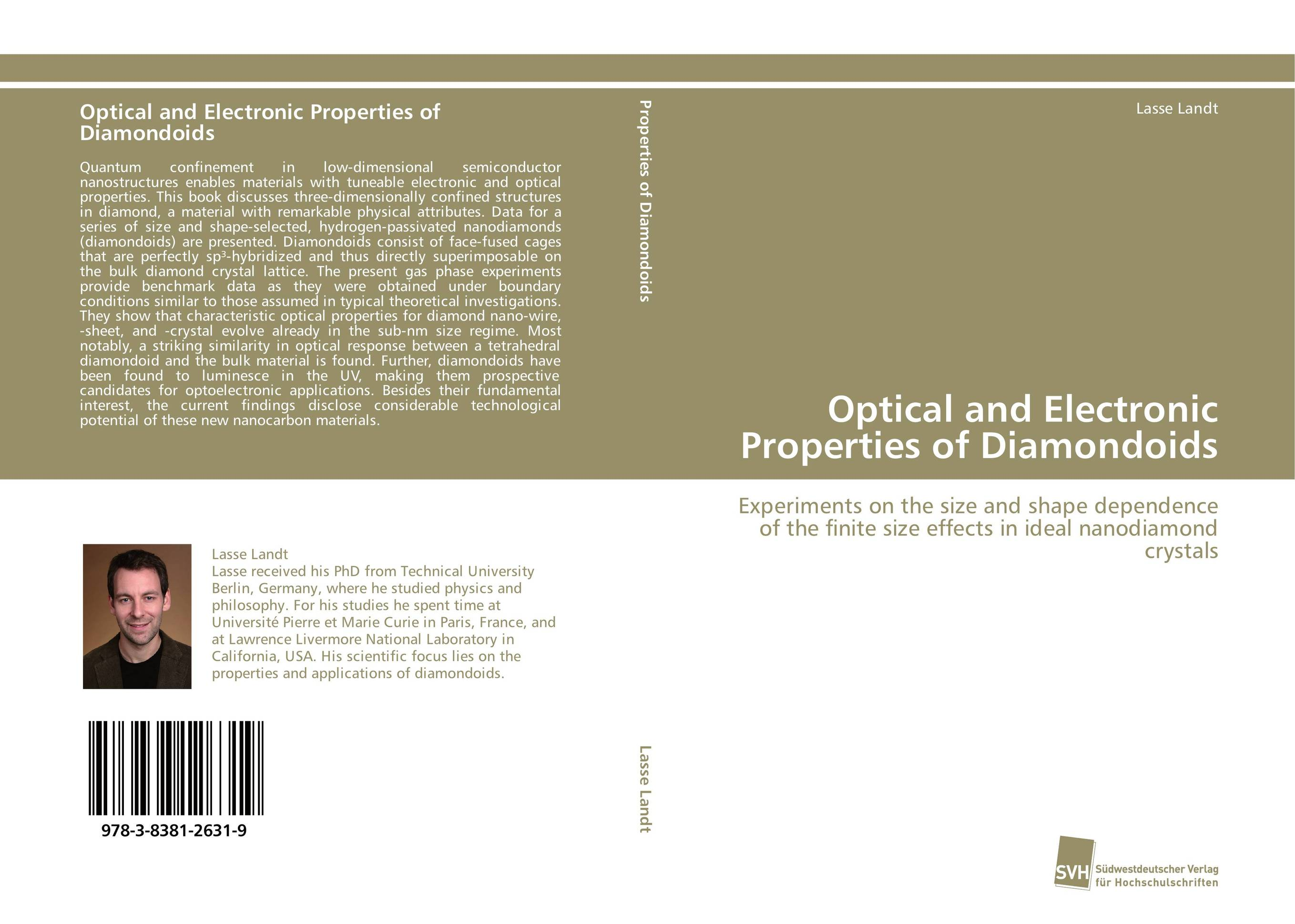 Optical and Electronic Properties of Diamondoids optical and electronic properties of diamondoids