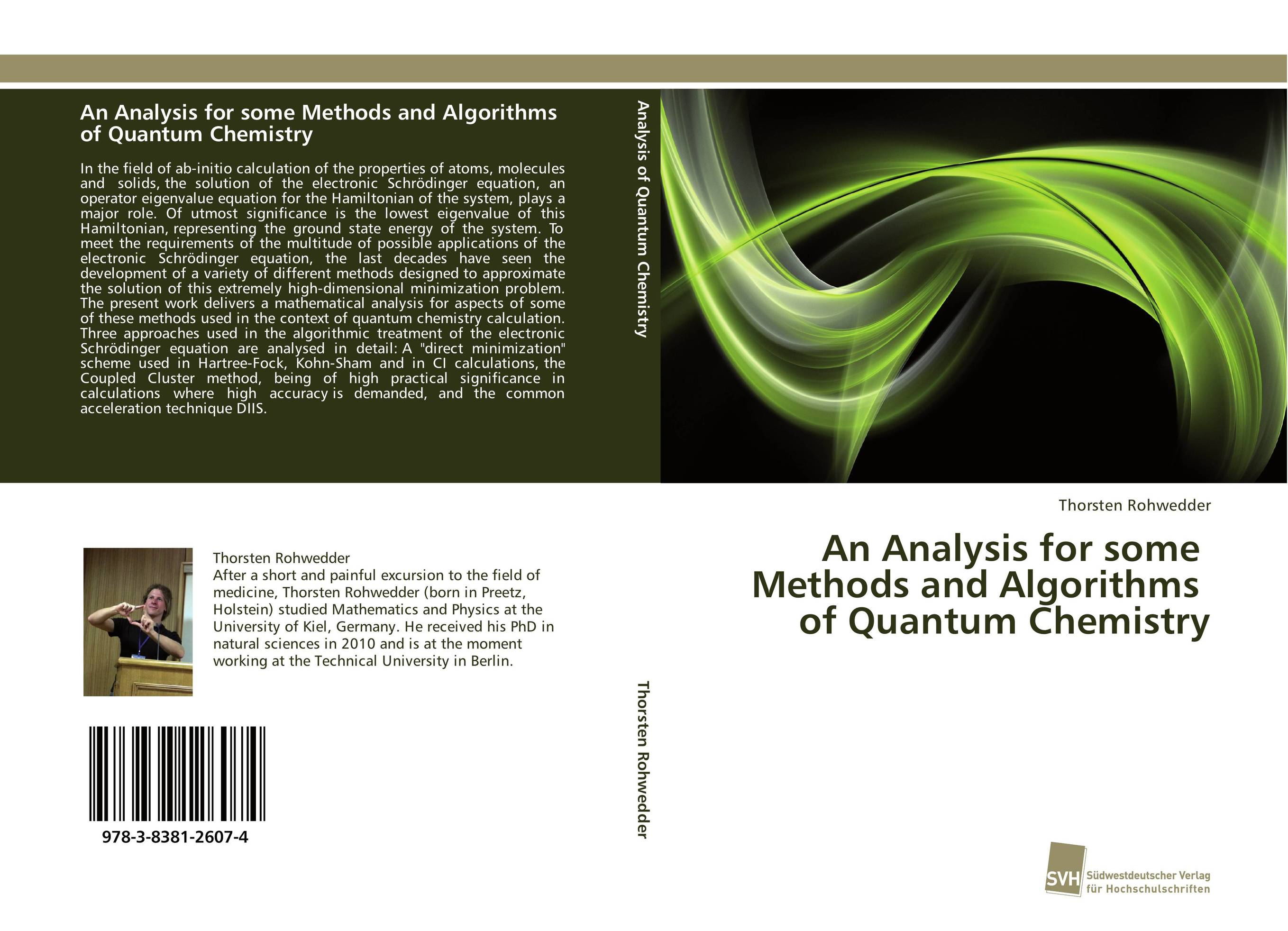 An Analysis for some Methods and Algorithms of Quantum Chemistry belousov a security features of banknotes and other documents methods of authentication manual денежные билеты бланки ценных бумаг и документов