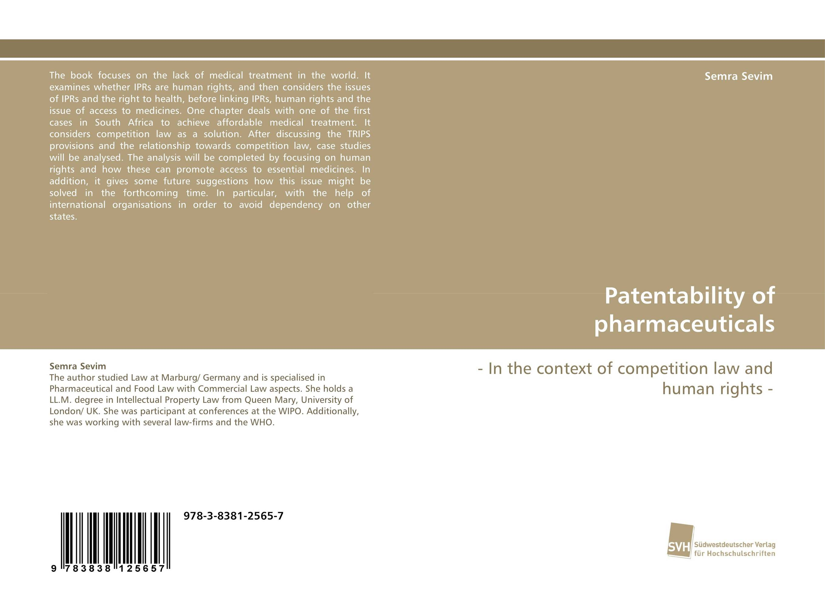 Patentability of pharmaceuticals