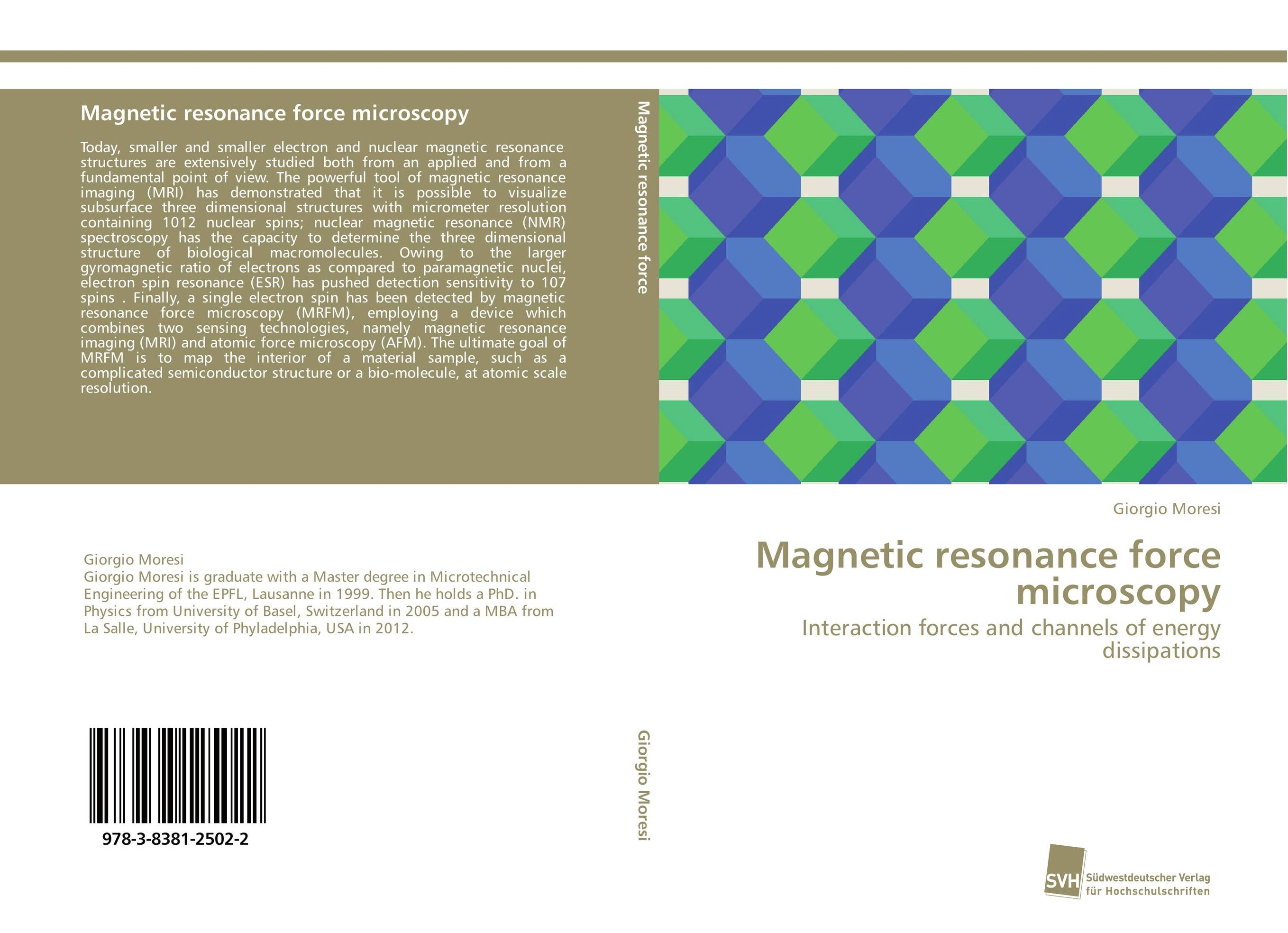 Magnetic resonance force microscopy surface nuclear magnetic resonance