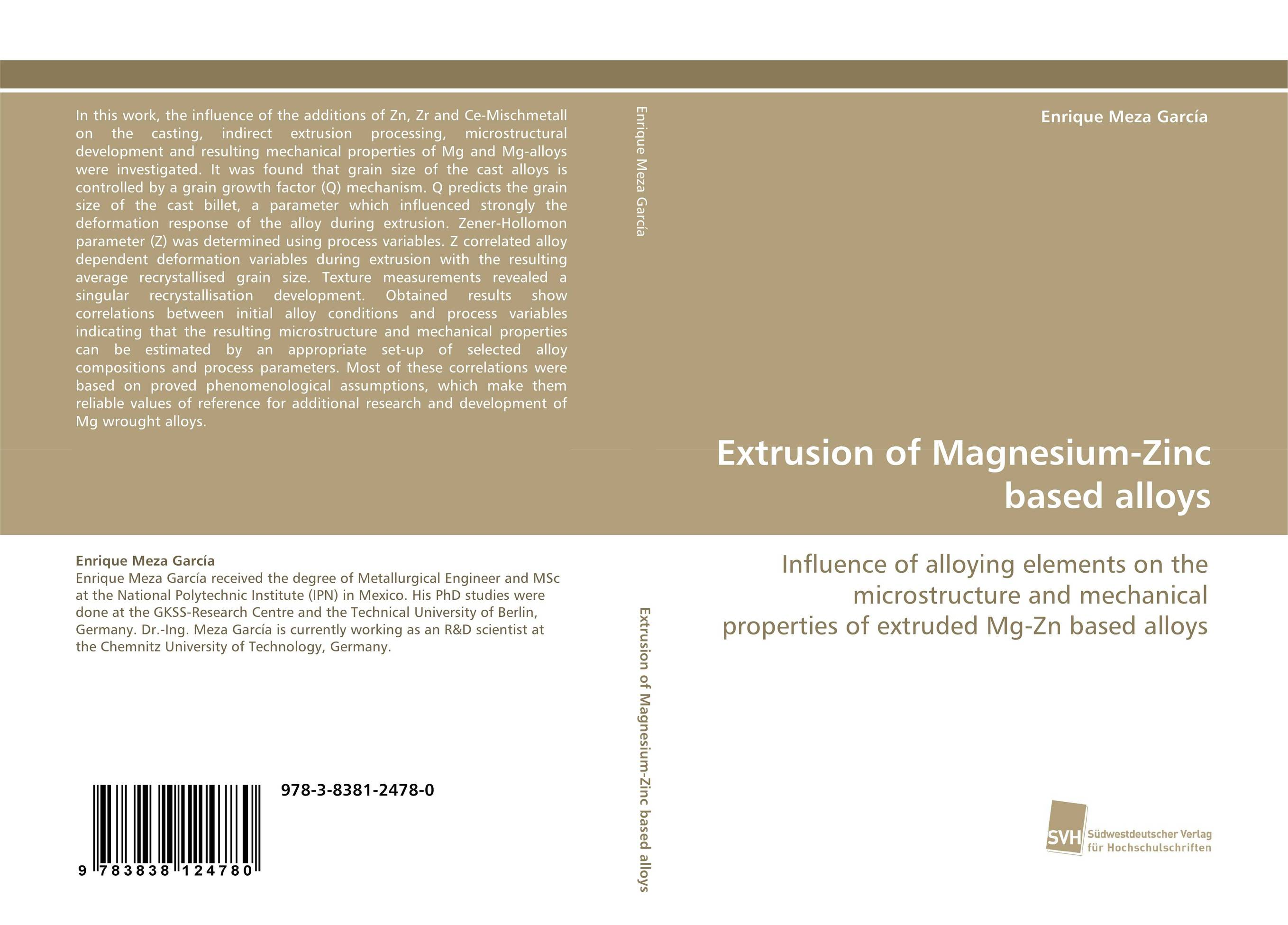 Extrusion of Magnesium-Zinc based alloys