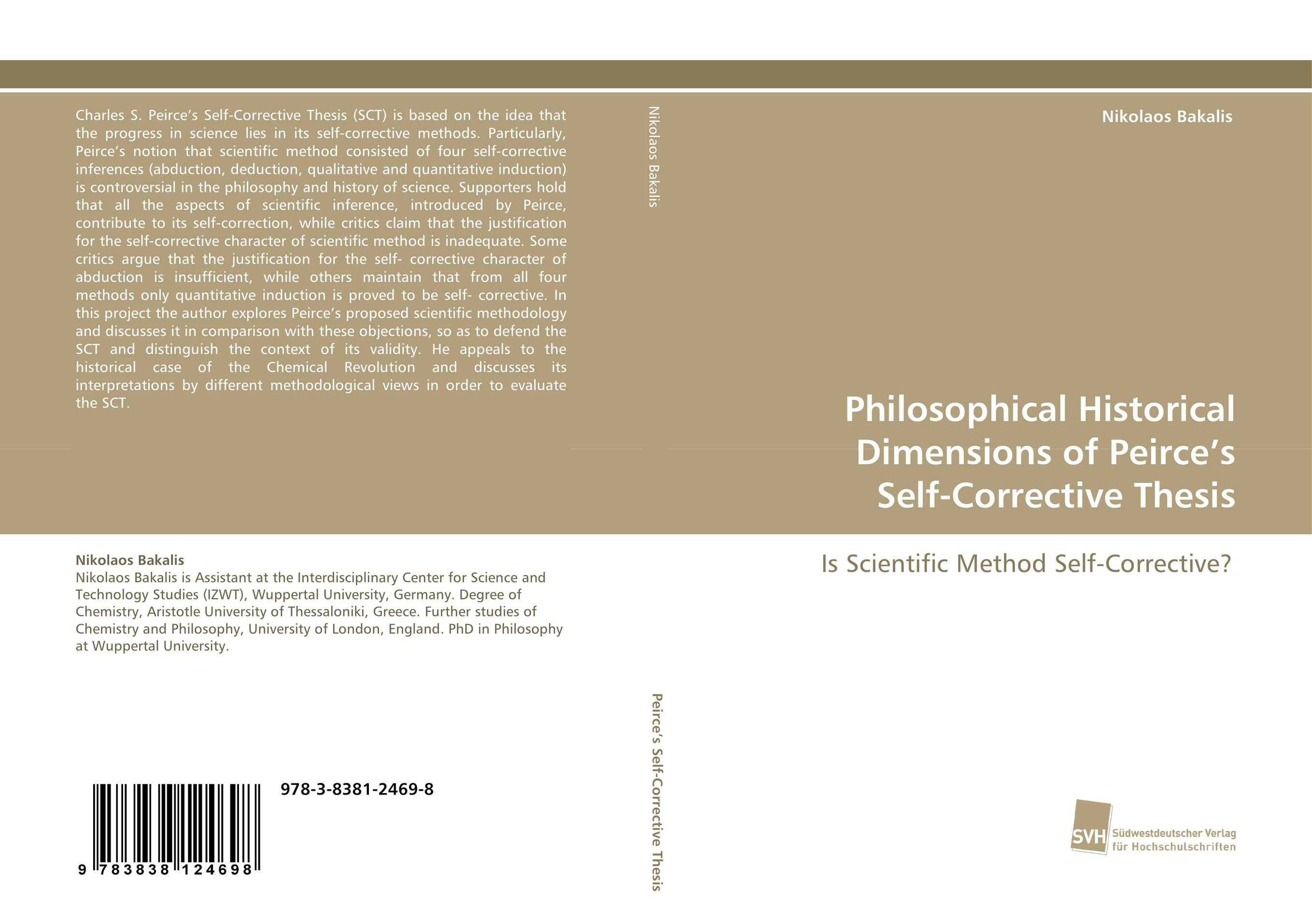 Philosophical Historical Dimensions of Peirce's Self-Corrective Thesis